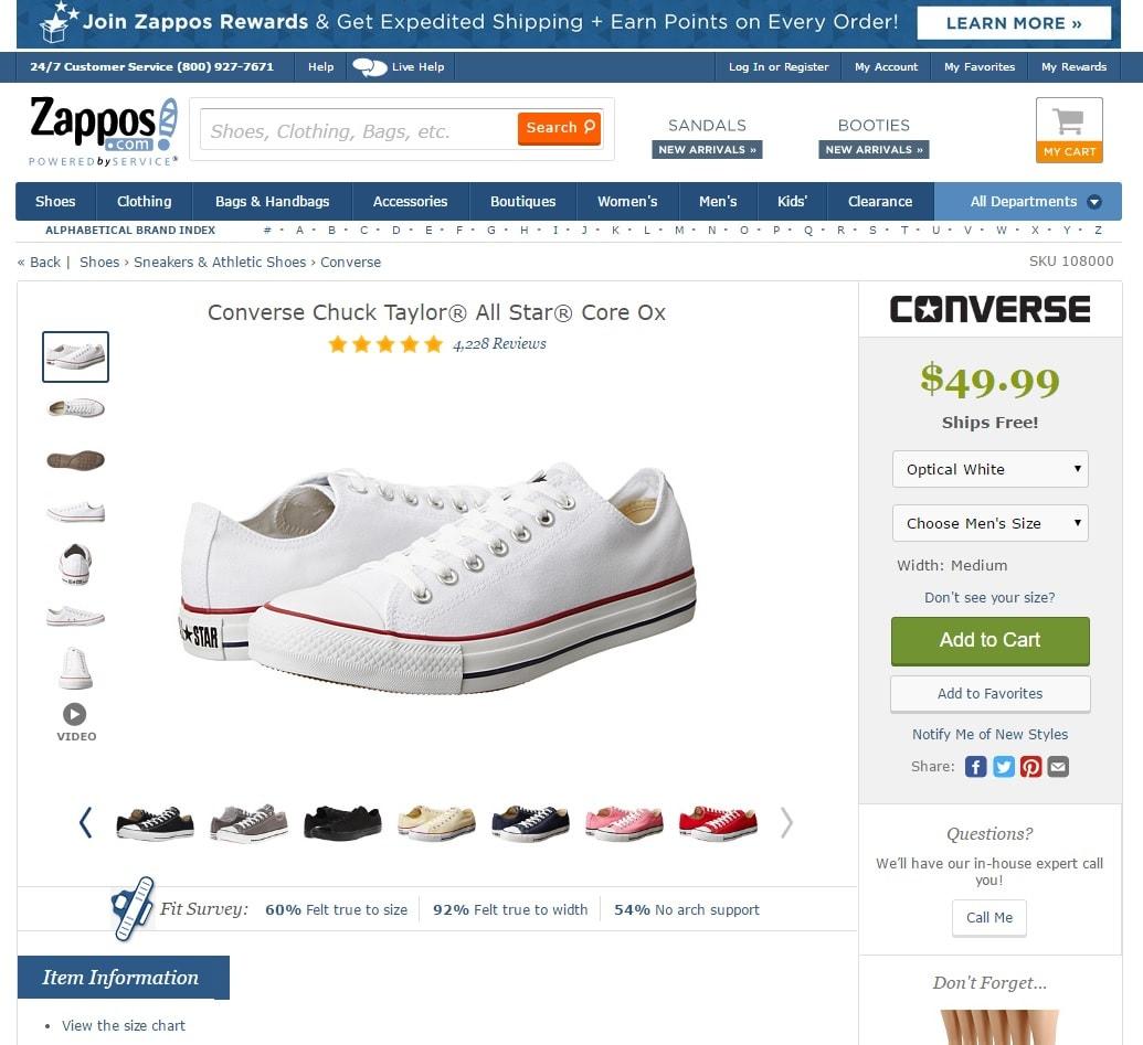 E commerce Mode : Top 7 des Fiches Produit de Chaussures